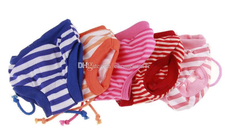 Pet Physiological Pants Female Pet Dog Puppy Sanitary Cute Short Panty Diaper Safety trousers Underwear DHL free PD025