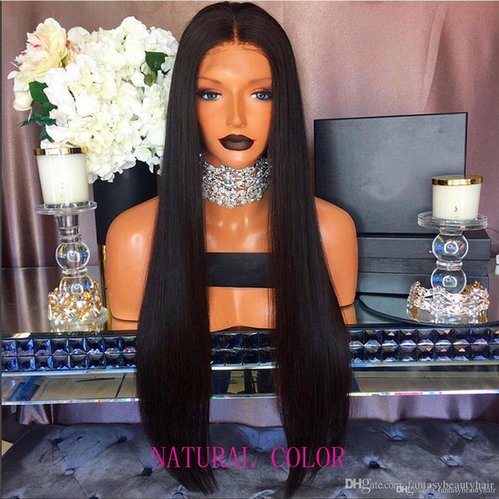 Ombre Blonde #1B/99 and Natural Black Human Hair Full Lace Wig Peruvain Virgin Hair 150% Density Front Lace Wig With Baby Hair