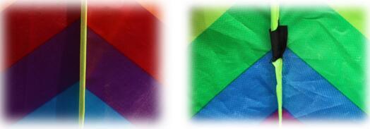 Jeux de plein air Arc-En-Cerf-Volant Sans Outils Volants Enfants En Plein Air Amusant Sport Cerf-volant À Longue Queue Patchwork Enfants Triangle Couleur Cerf-volant Facile Voler