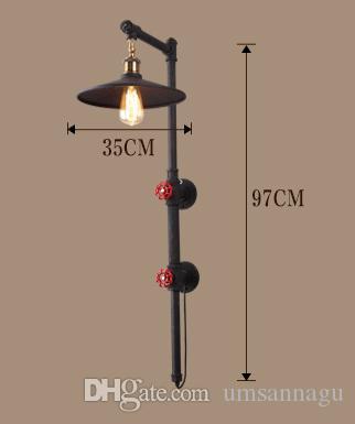 American Waterpipe Lampade da parete Industriale Vintage Lampada da parete a soppalco Illuminazione interna casa Sala da pranzo Ristorante Caffè Bar Lampada da tavolo