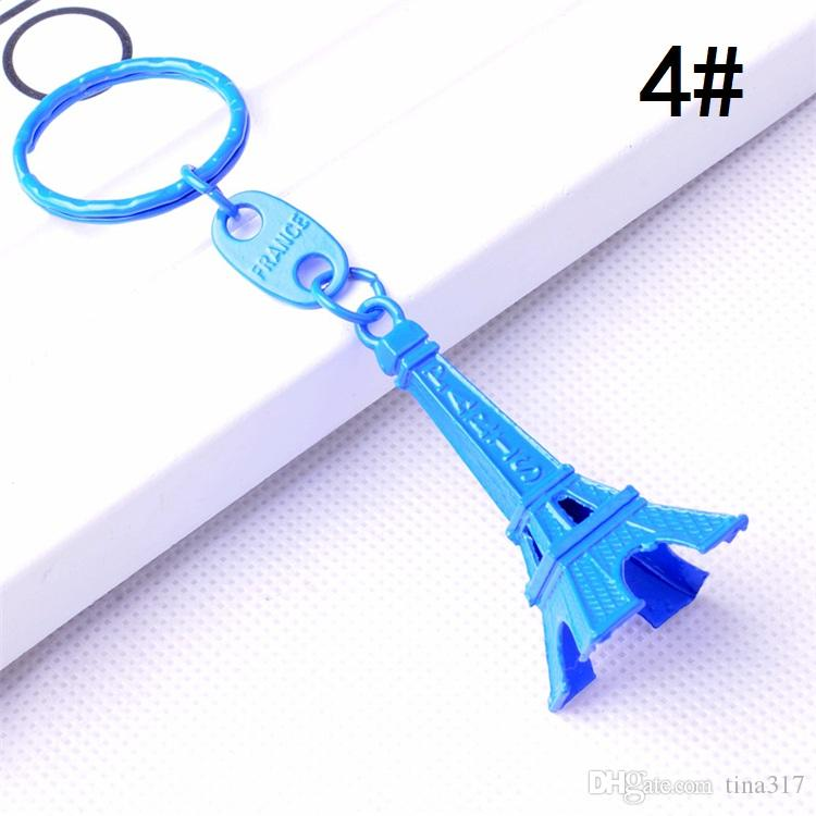 Toptan - Yaratıcı Anahtarlık Retro Anahtar Zincirleri Hediyeler Set Keyschains Fransa Eyfel Kulesi Anahtarlık A0709