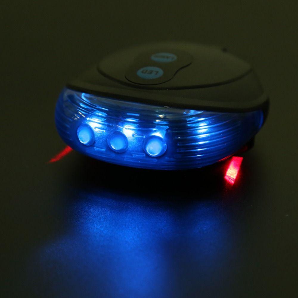 Vélo Vélo Lumières Étanche 5 LED 2 Lasers 3 Modes Vélo Feu Arrière Sécurité Avertissement Lumière Vélo Arrière Vélo Vélo Feux Arrière
