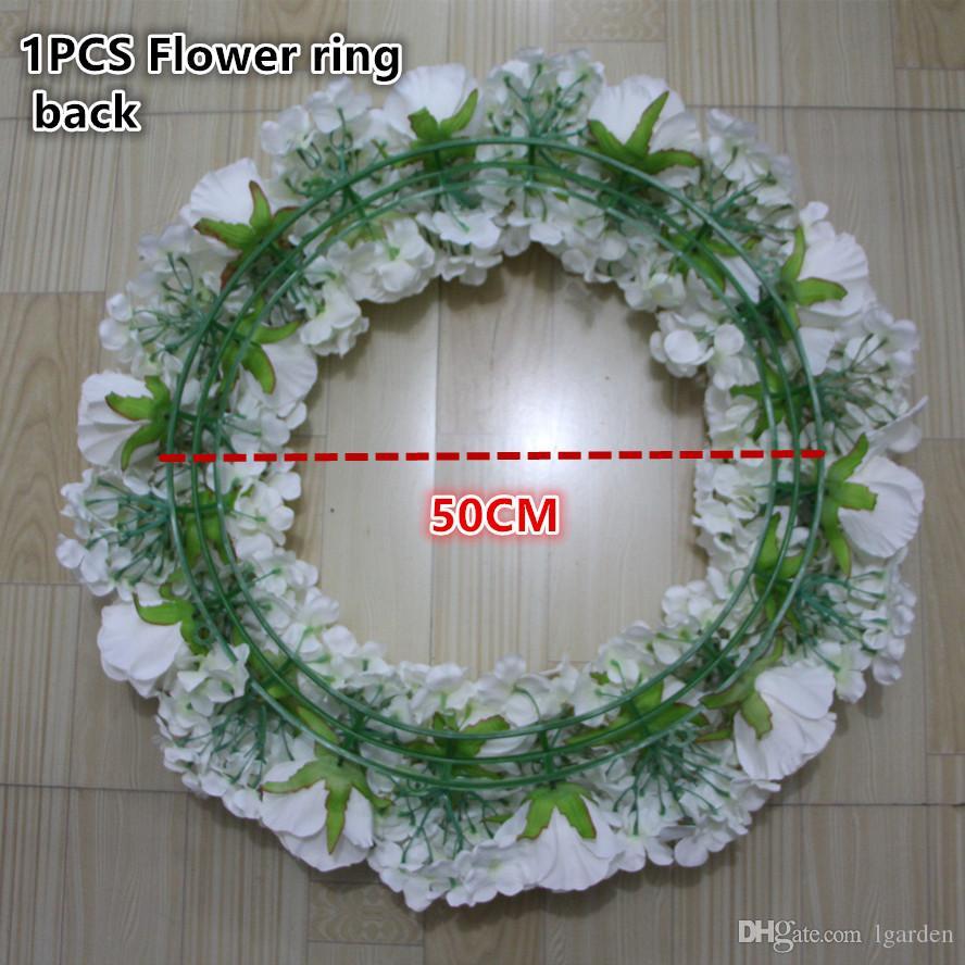 Masa merkezinde çiçek yüzük çelenk düğün yol kurşun yapay ipek gül Düğün kemer kare köşk köşeleri dekoratif