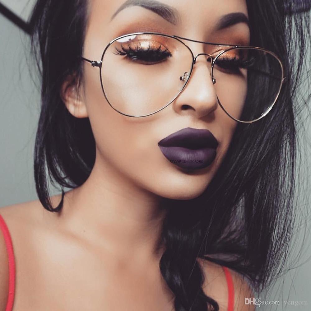 Compre New Gold Clear Aviador Óculos Mulheres Rodada Oversize Óculos De  Lente Clara Quadro EyeGlasses Quadro Masculino Óculos Claros Óculos  Transparentes ... c3a32fee9d