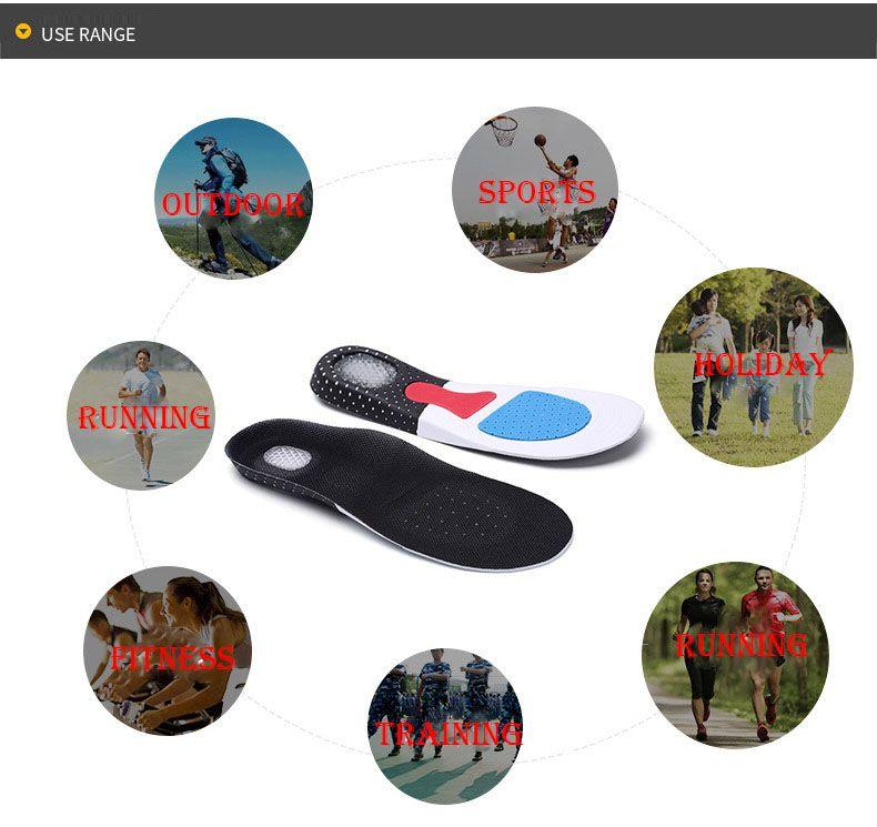 Unisex Orthotic Arch Support Sport Sport Shoe Pad Running Gel Plantillas Insertar Cojín Amortiguador Formación EVA Plantillas para hombres Mujeres