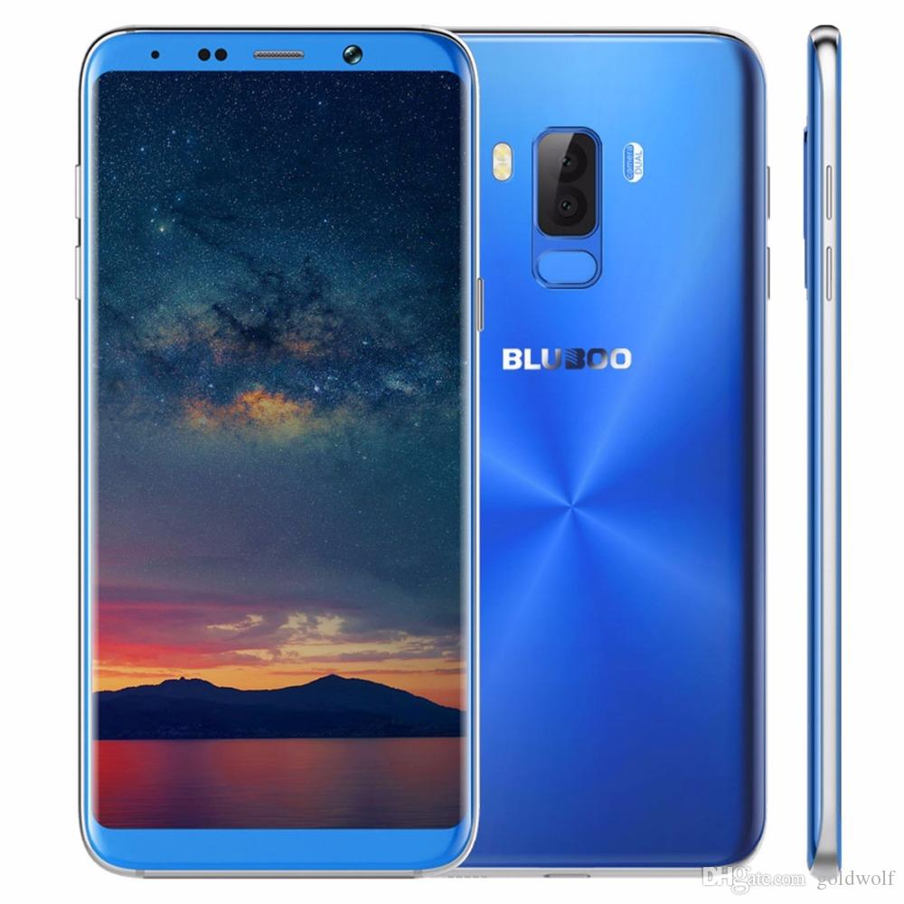 New BLUBOO S8 Plus 6.0'' 18:9 Smartphone MTK6750T Octa Core 4G RAM 64G ROM Android 7.0 Dual Rear Camera Fingerprint Mobile Phone