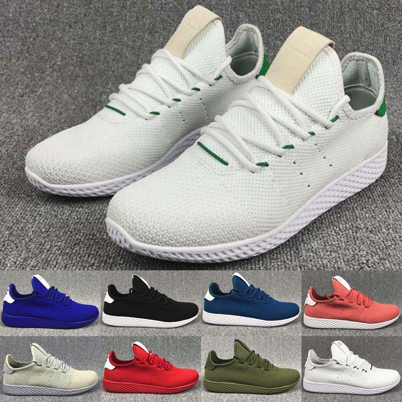 0bc5ce7f5f525 Venda quente Originais Pharrell Williams Tênis Hu Calçados Esportivos  baratos Arco-Íris Stan Smith Running Shoes Homem Sapatilhas sapatos Tamanho  EUA 5-10
