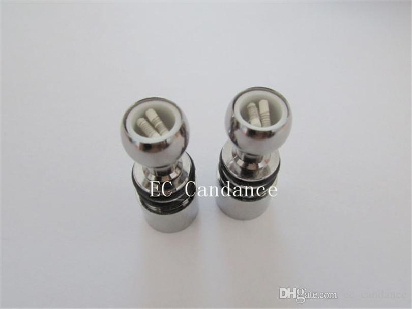 Dual Ceramic Coil head For Wax Vaporizer Pens Glass Globe Bulb Atomizer Wax Vape metal Coil For Wax Dry Herb Vaporizer Vhit Skillet