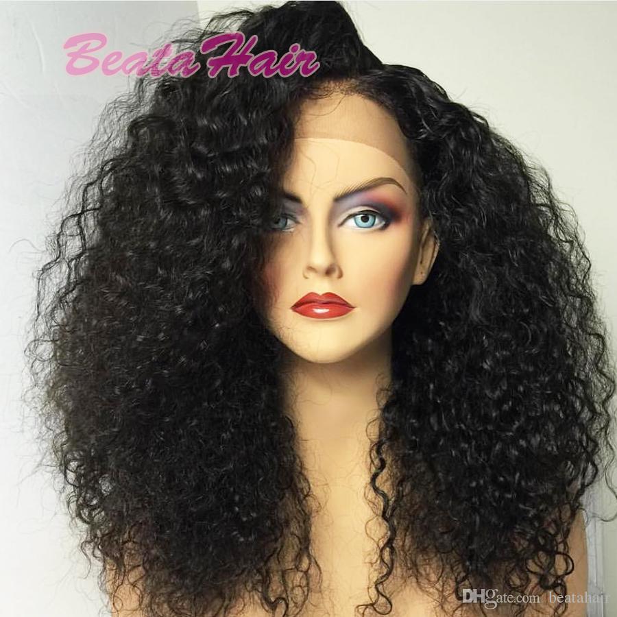2017 neue stil lockige welle volle spitze menschliches haar perücken heißes haar produkt spitzefront menschliches haar perücken mit baby haare