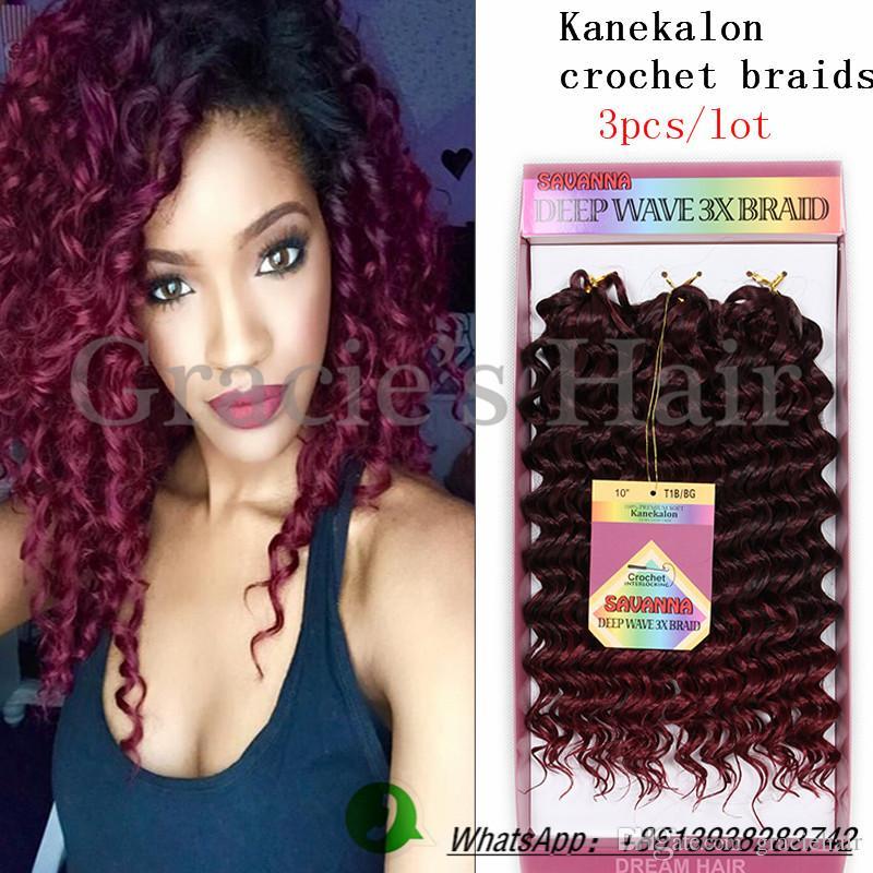 Acheter 3packs Kanekalon Jumbo Tresse Synthétique Extensions De Cheveux  Ombre Deux Tons Vague Profonde Tressage Synthétique Cheveux Crochet Tresses  Vague