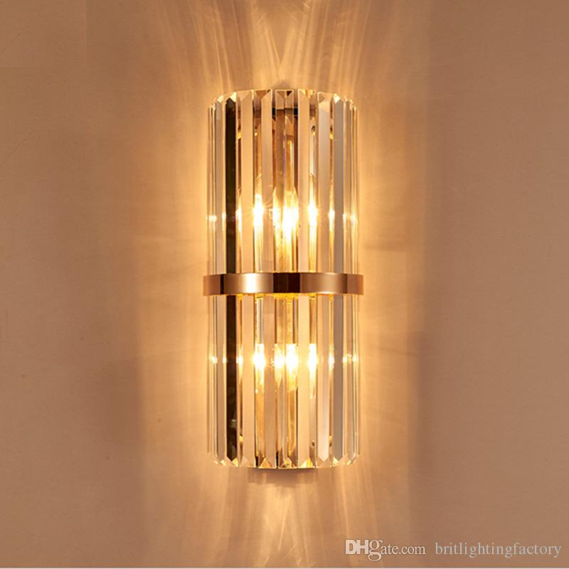 2019 k9 crystal wall sconce bedroom wall lamp with switch livingroom