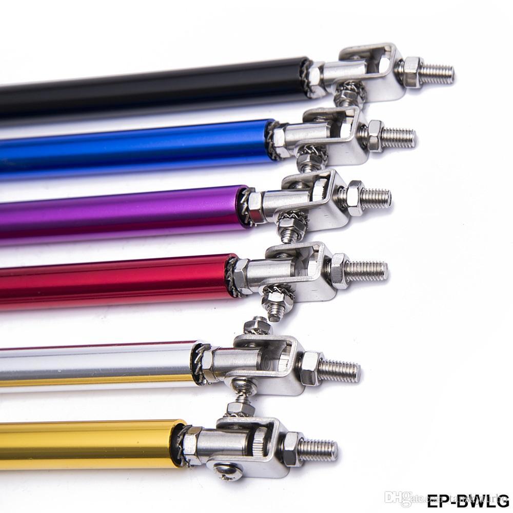 TANSKY - 100mm Adjustable Front Bumper Lip Splitter Strut Rod Tie Support Bar For Toyota BMW Honda EP-BWLG100