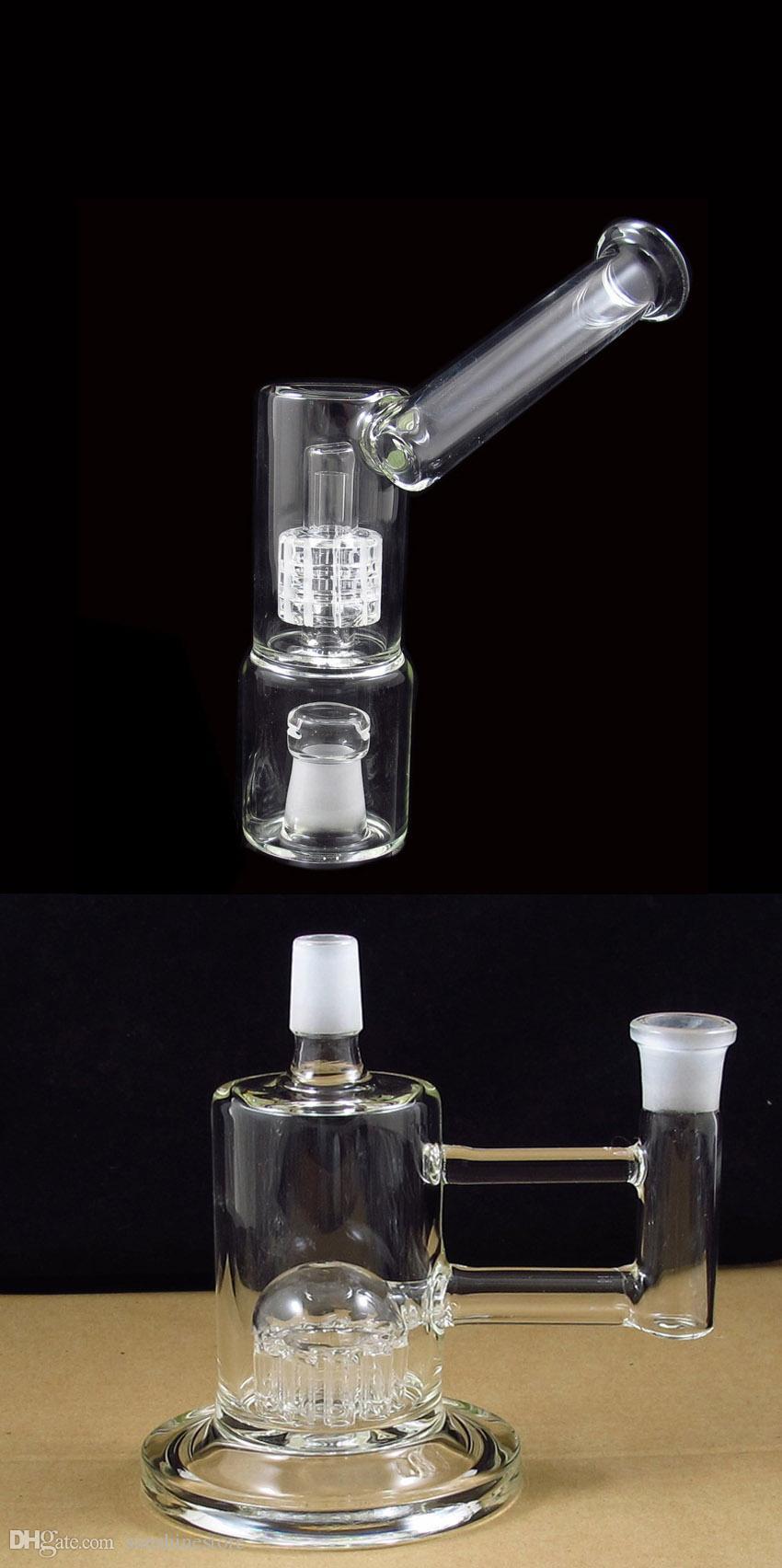 Nouveau design VapeXhale hydratube sidecar perc avec support 7 pouces bubbler verre bong 5mm d'épaisseur