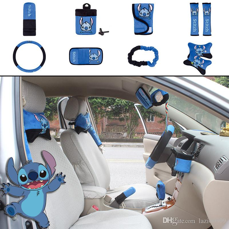 Unit Auto Accessories Stitch Blue Black Car Upholstery Steering