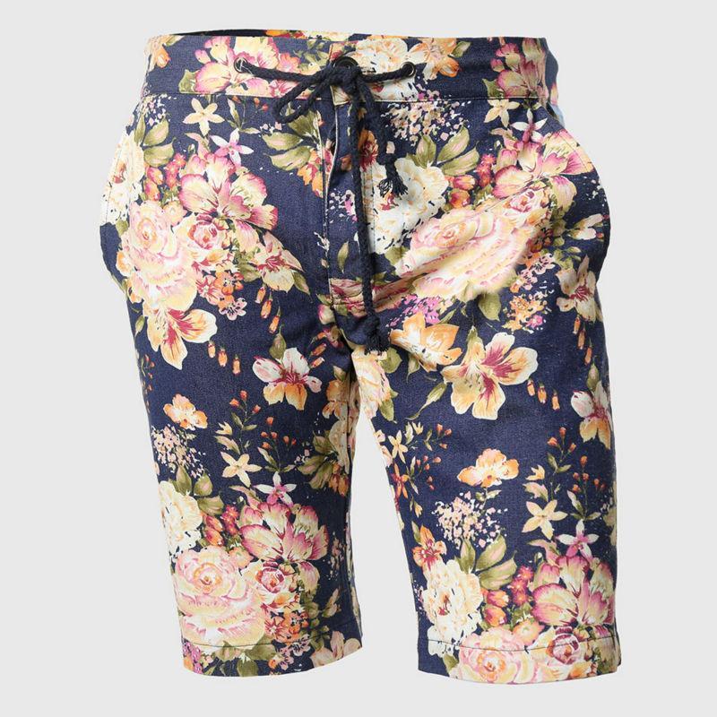 2d4c2f2e8bb 2019 Wholesale Summer Floral Shorts Men Tight Hawaii Flower Print  Personality Drawstring Clothing Boys Bohemia Korean Style From Xx2015