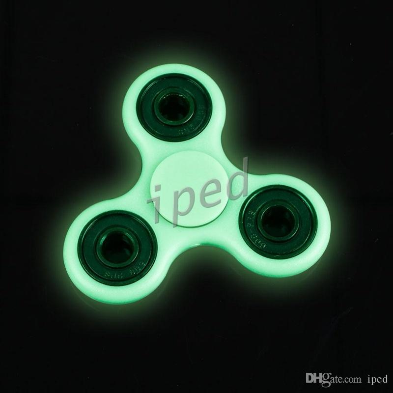 Luminous Hand Spinner Fingertips Spiral Fingers Gyro Torqbar Fidget Glow In The Dark Tri Decompression Toys High Quality Spinning Baby