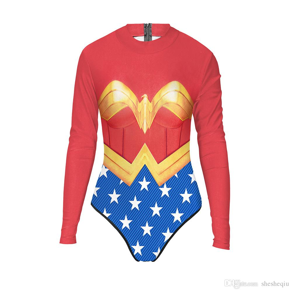 3D Halloween Costumes for Women Wonder Woman Costume Adult Bodysuit Cartoon Character Costumes Clothing halloween costumes