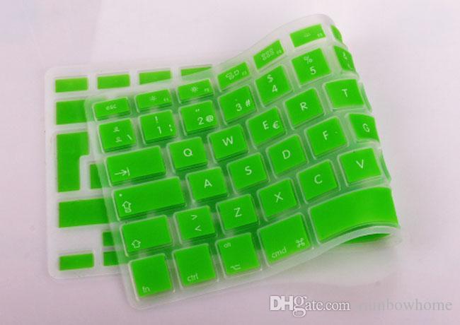Tyska ryska franska arabiska spanska vattentäta tangentbordskåpa Klar silikongummi för MacBook Pro Air 13 15 17 tum US EU-version