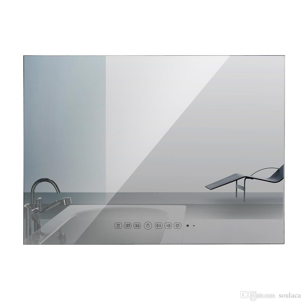 Soulaca 15.6inch Bathroom Mirror TV Waterproof TV For SPA Home Wall ...