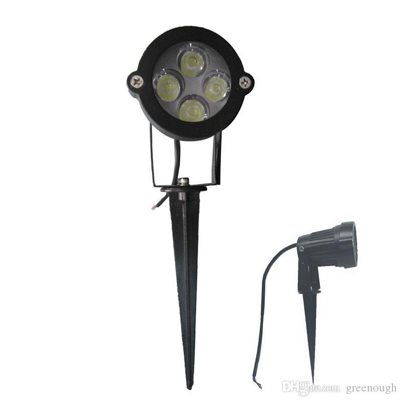 10 adet 4 W AC85-265V 12 V LED Bahçe Spike işık IP65 Su Geçirmez Projektör Yolu Peyzaj Spot Güvenlik Güvenlik Işık Açık LED Sel Lamba