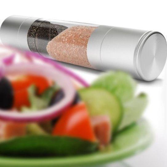 Nuevo Molinillo de pimienta 2 en 1 Acero inoxidable 2020 Manual Molinillo de pimienta salada Molinillo Sazonador Herramientas de cocina Molienda para cocinar h147