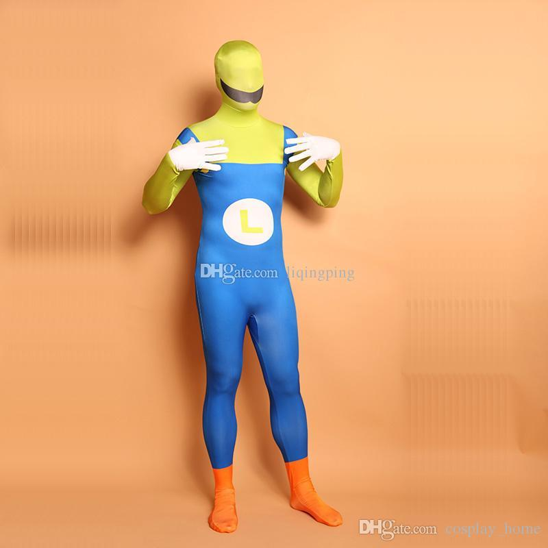 254800ccfc6b Halloween Super Mario Cosplay Costumes Unitard Lycra Spandex Full Body  Zentai Catsuit For Women Online with $53.56/Piece on Cosplay_home's Store |  DHgate. ...