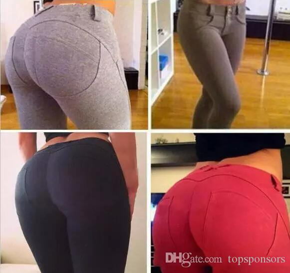 best price Sexy Women Butt Lift Pants Colombian Brazilian Style Stretchy Skinny Leggings Pencil Slim Jeans Thin Capris Trousers