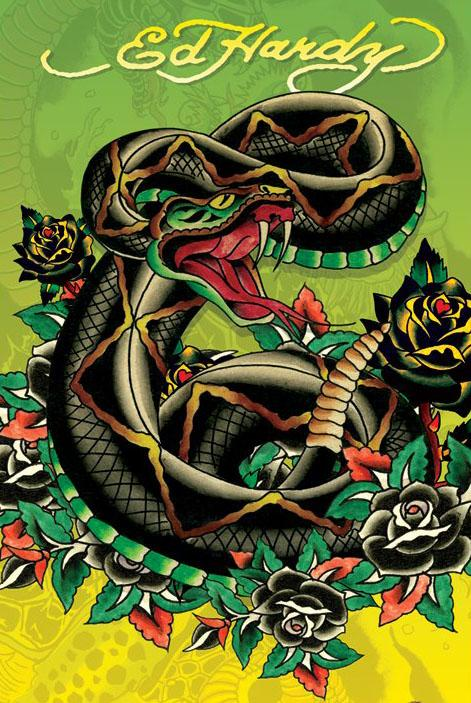 2018 Ed Hardy Tattoo Poster / Print Snake Art Print Silk Poster Home Wall  Decor From Weiwei009, $7.92 | Dhgate.Com