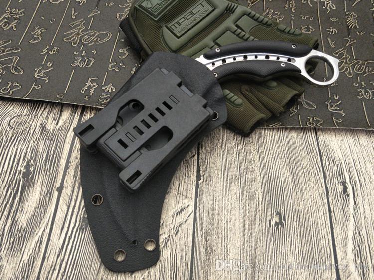 Karambits Ayna ışık akrep pençe bıçak açık kamp jungle survival savaş karambit cs Sabit bıçak avcılık bıçaklar kendini savunma aracı