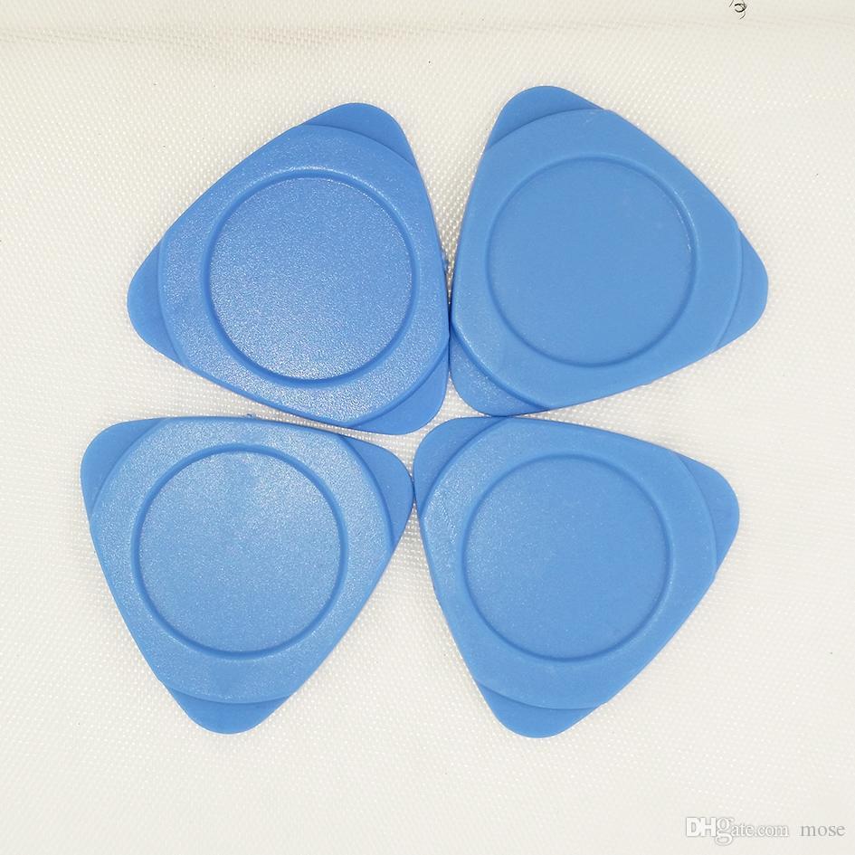 Grueso azul plástico trilateral pick pry herramienta apertura cáscara shell reparación herramientas kit triangular plato para celular reparación de teléfono móvil