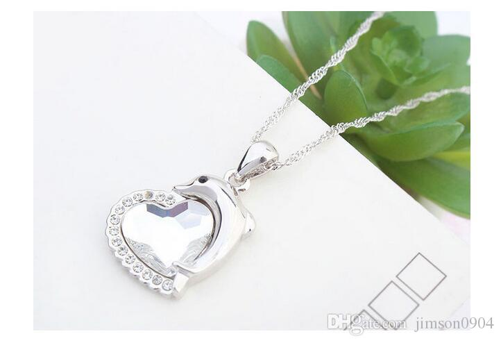 2017 new 1000SE Quality goods Crystal Necklace Dolphin spirit High-grade Pendant jewelry sale