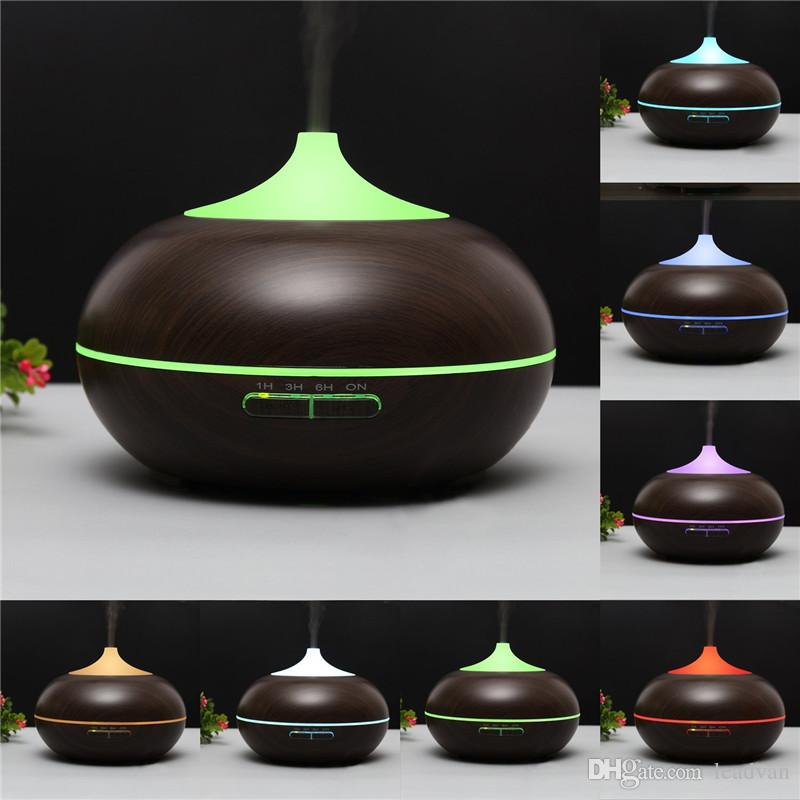 300ml Wood Grain Aroma Essential Oil Diffuser Ultrasonic Cool Mist Aromatherapy Humidifier For Home Office Bedroom Baby Room