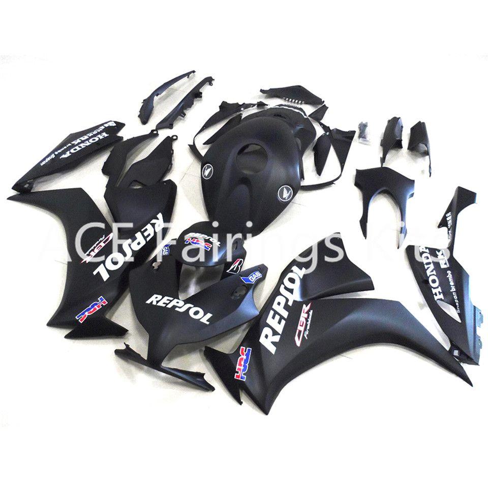 3 regali gratuiti Honda CBR1000 CBR1000RR 12 13 14 2012 2013 2014 ABS Iniezione Moto Kit carena completa Nero A13S