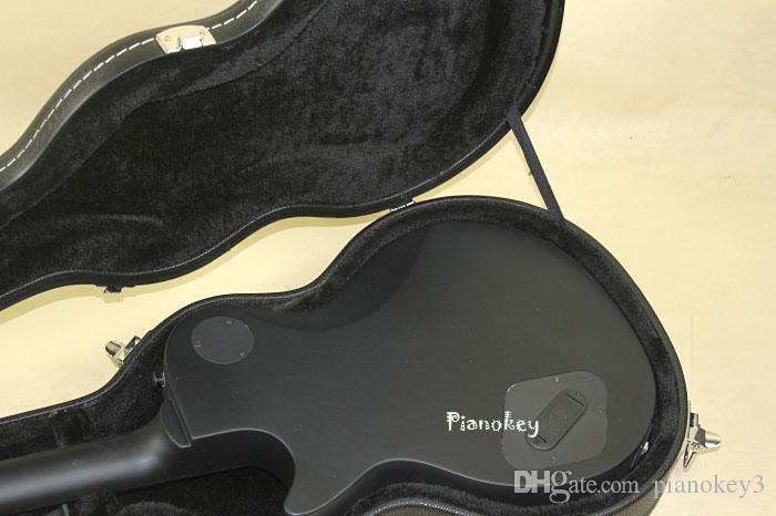 매트 그레이 컬러 표준 기타, 맞춤형 서명, 흑단 지판, 일렉트릭 픽업 일렉트릭 기타, 무료 배송