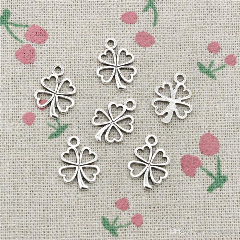 Discount Charms Lucky Irish Four Leaf Clover 17 14mm Antique Silver Pendant  Zinc Alloy Jewelry Diy Hand Made Bracelet Necklace Fitting From China  f82def5e0a0a