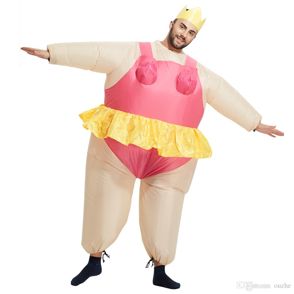 Christmas Inflatable Costume Funny Fancy Dresses Adult Chub Suit ...