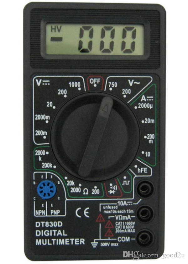 Black DT830D Digital Multimeter with Buzzer Voltage Ampere ... | 600 x 841 jpeg 49kB