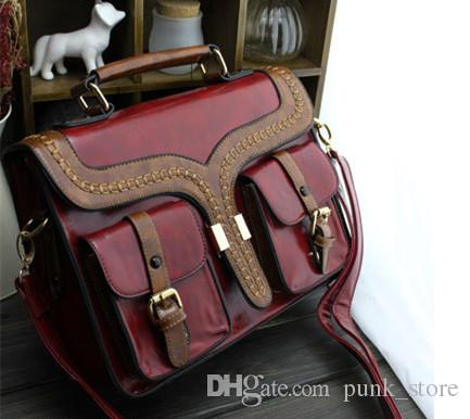 Christmas Gift Steampunk British Style Women Bags Laptop Handbags Lady Shoulder  Bag Working Briefcase School Bag School Bag British Briefcase Briefcase ... 8adeca9cd4