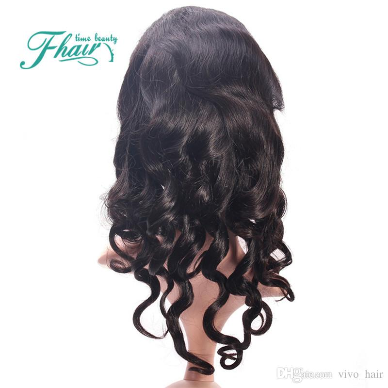 Beauty 2016 New Style Front/Full Lace Wigs Loose Wave Mongolian Hair Bleached Knots Natural Color Cheap Price By DHL