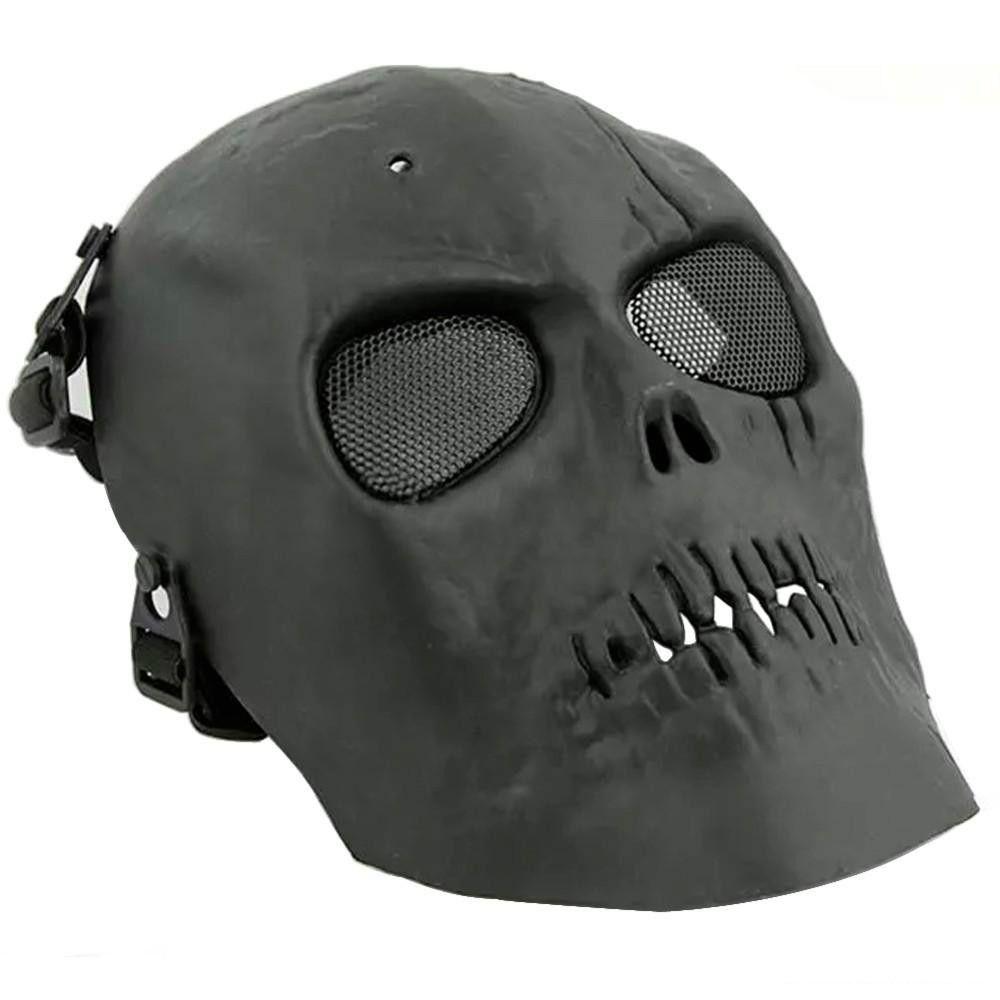2016 армия сетки полнолицевая маска череп скелет Airsoft пейнтбол BB игры защитить Маска безопасности