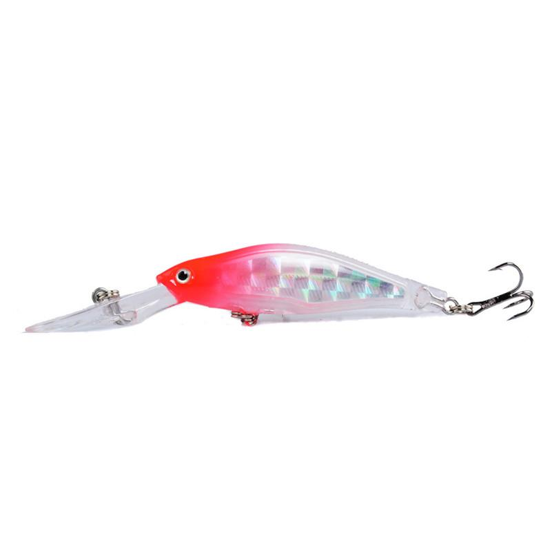 Hot Shallow Diving Mosaic reflection Laser baitcasting Hooks 9cm 7g 3D Eyes Plastic Artificial lures for sea bass fishing