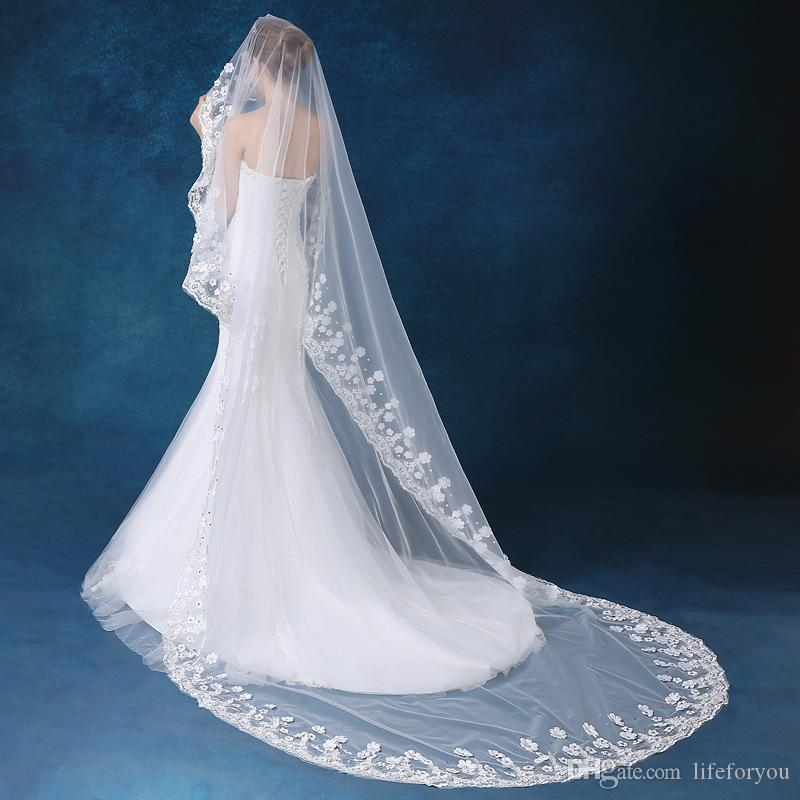wedding veils wedding veil headpieces for wedding ivory bridal accessories bridal veils simple veils with lace and diamond