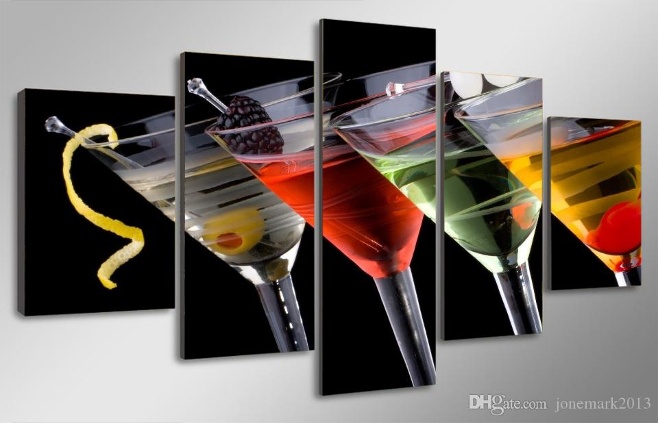 Framed HD Printed drinks Group Painting Canvas Print room decor print poster picture canvas /ny-308