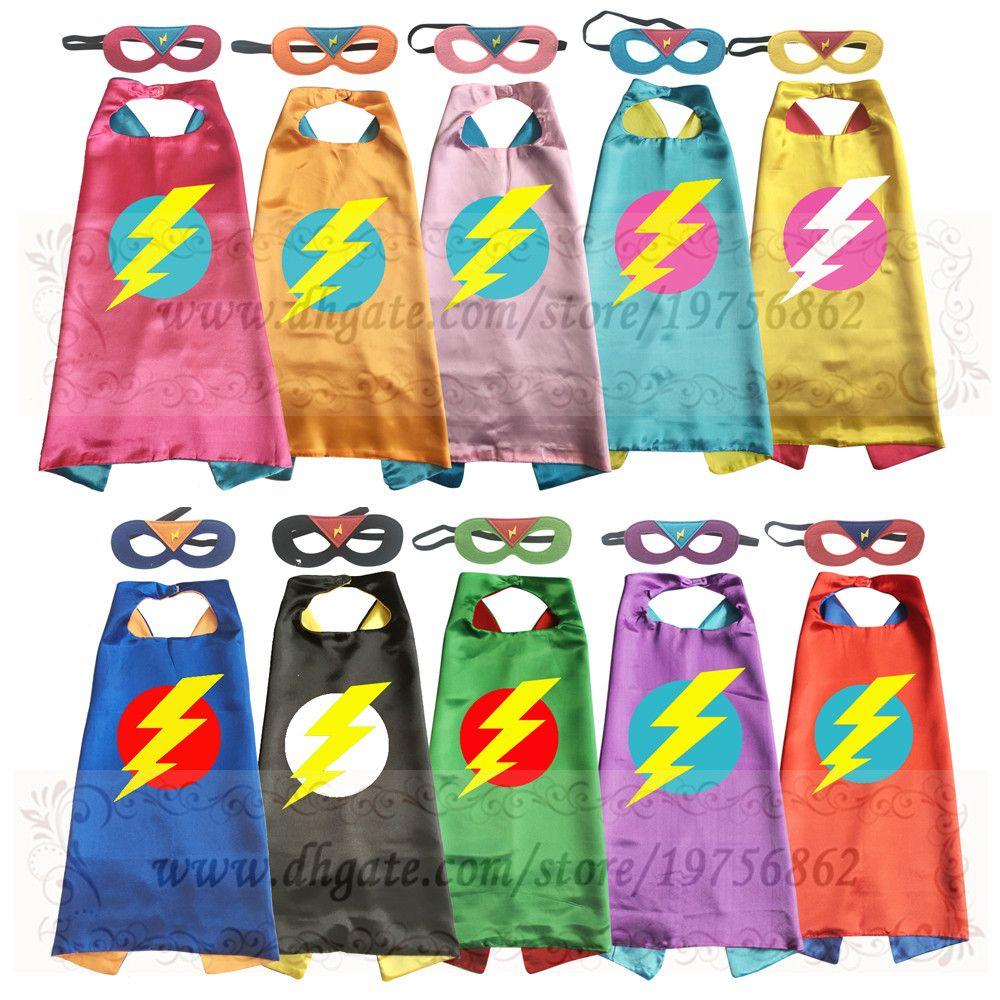 superhero cape with mask lightening bolt custom colors 2t 7t super