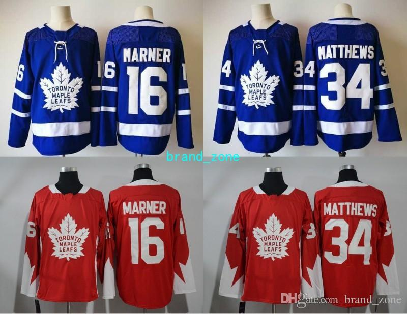 new product 9f333 134e0 Toronto Maple Leafs 2018 Jersey 2017 New Style Ice Hockey 16 Mitchell  Marner 34 James Reimer Jersey Team Color Blue Embroidery High Quality