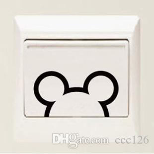 Micky a set switch laptop cup family Wall stickers decoration decor home decals fashion waterproof bedroom living sofa