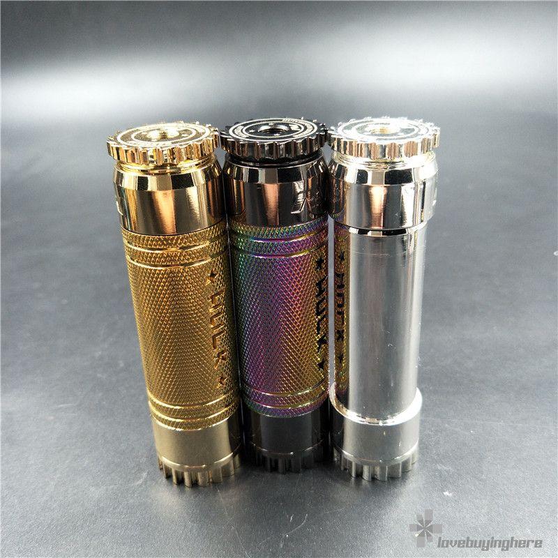 AV Hulk Mechanical Mod w / Colorful Sleeve Best Avid Lyfe Mech Mod 18650 Batería Vape Mod para el envío al por mayor DHL libre