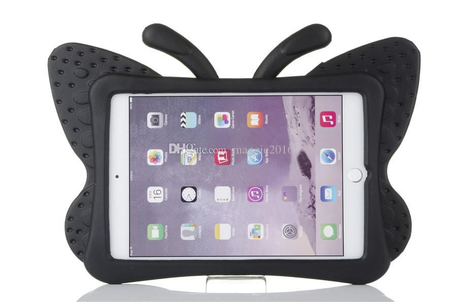 3D Butterfly Kids' Case for Apple iPad 2 3 4 9.7 inch EVA Shock Proof Stand Cover with Handle Kids Friendly