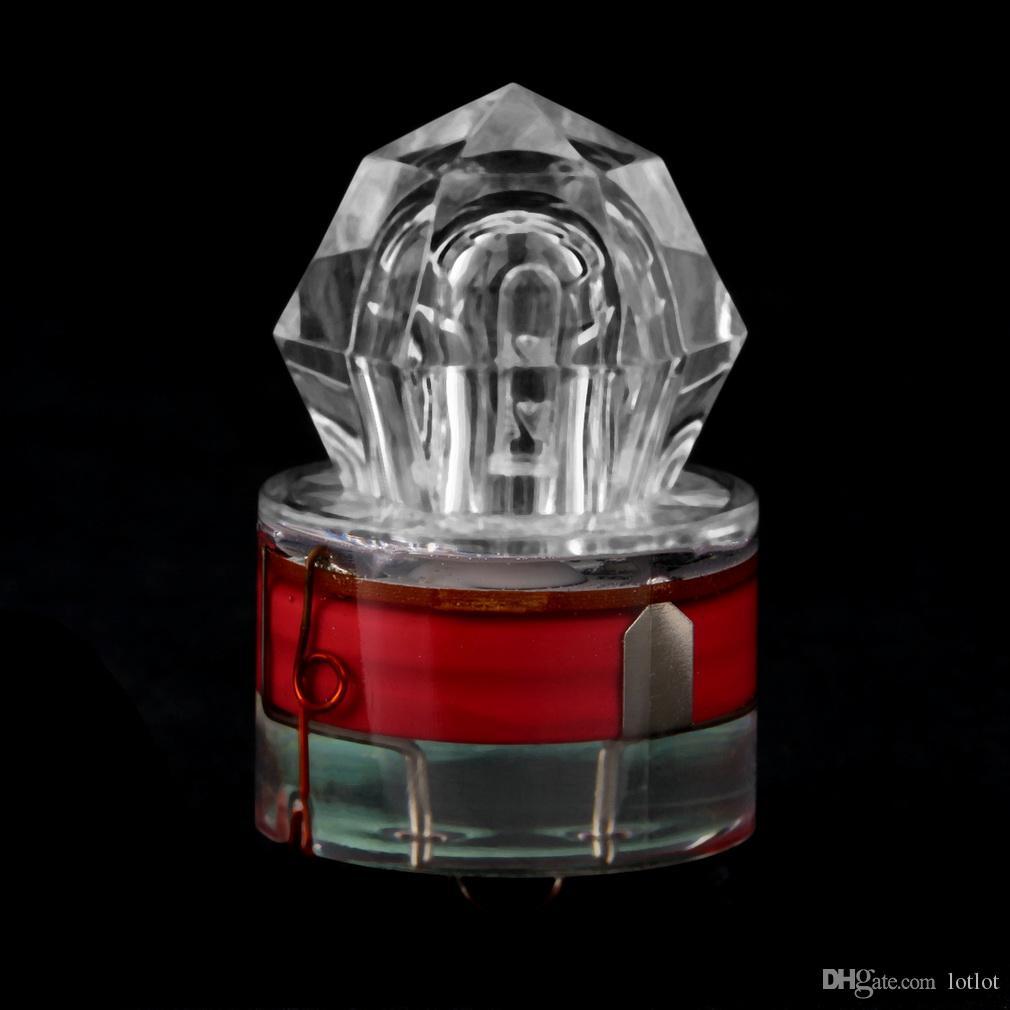 LED Fishing Light Deep Drop Underwater Diamond Shaped Flashing Light Cebo