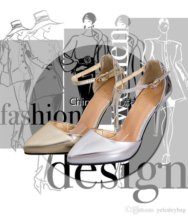 Scarpe di marca Donna Décolleté con tacco alto Argento dorato Scarpe da donna Décolleté con tacco alto Nero Scarpe nudi